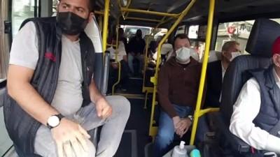dar sokaklar -  Başkan Atila Aydıner'den tebdili kıyafetle minibüslerde pandemi denetimi