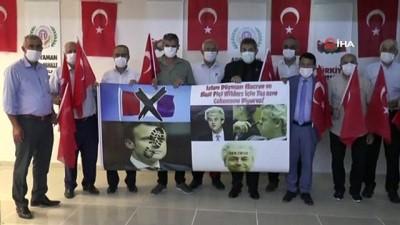Macron ve Wilders'in posterleri yırtıldı