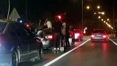 Ne koronayı ne trafiği umursadılar