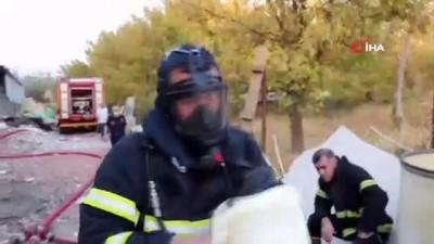 Kahramanmaraş'ta korkutan fabrika yangını