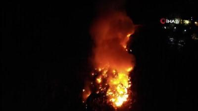Karabük'te şehir çöplüğünde yangın çıktı