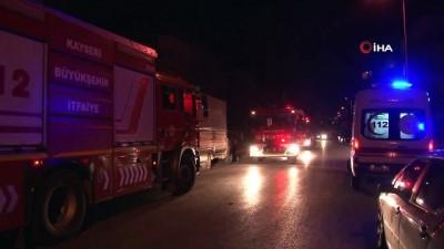 Kayseri'de 8 kişinin yaşadığı evde yangın paniği