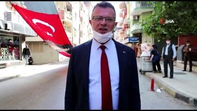Alaşehir'de bayrak üzerinden geçen araca soruşturma