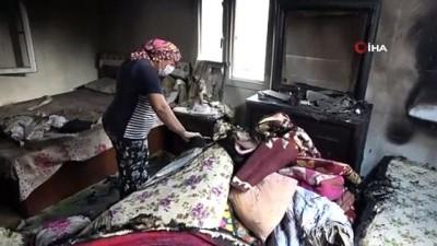 orman yangini -  Ev sahipleri yanan evlerini görünce gözyaşlarını tutamadı