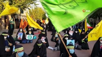iranlilar -  - Macron, Fransa'nın Tahran Büyükelçiliği önünde protesto edildi