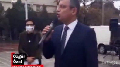 grup baskanvekili - CHP'li Özgür Özel: İzmir Marşı okuyunca yağmur yağmayı kesti