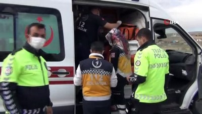 Virajı alamayan otomobil şarampole devrildi: 8 yaralı
