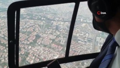 Bakan Pakdemirli, deprem bölgesinde havadan incelemelerde bulundu