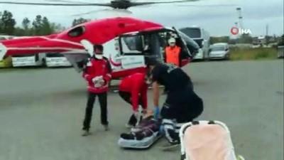 ambulans helikopter -  Ambulans helikopter 82 yaşındaki hasta için havalandı
