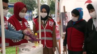 Kızılay Haftası'nda çocuklar hijyen ve deprem konusunda bilinçlendirildi