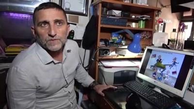 Azerbaycan'a Zonguldak'tan karikatürlü destek