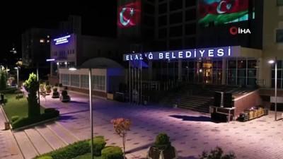 Elazığ'dan Azerbaycan'a  bayraklı kardeşlik mesajı