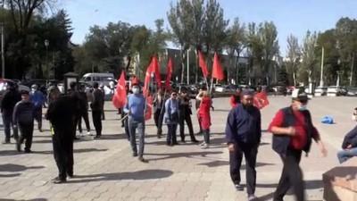 secim yarisi - Kırgızistan'da barajı geçemeyen partilerin temsilcilerinden seçim sonucu protestosu - BİŞKEK