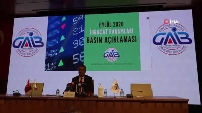 GAİB Başkanı Kileci Eylül ayı ihracat rakamlarını açıkladı