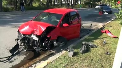 palmiye agaci -  Kaza yapan araca bakmak için yavaşlayan araç ikinci kazaya sebep oldu