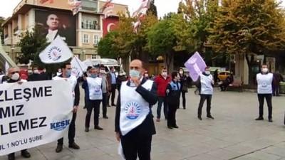 TÜM BEL-SEN üyelerinden toplu sözleşme protestosu - İSTANBUL