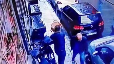 silahli kavga -  Balkondan sepetle sarkıtılan silahlarla saldırı kamerada: 2 yaralı