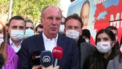 ÇANKIRI - Eski CHP Milletvekili Muharrem İnce, esnafı ziyaret etti