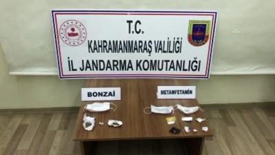 il jandarma komutanligi - KAHRAMANMARAŞ - Cerrahi maske içerisinde uyuşturucu ele geçirildi