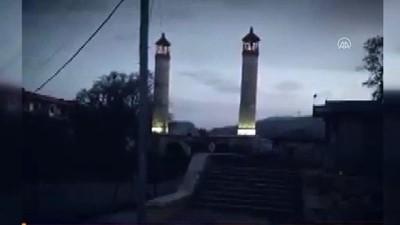 Şuşa'daki Yukarı Gövher Ağa Camisi'ne elektrik verildi