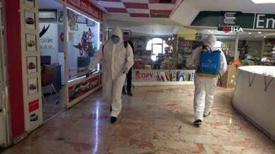 Erzincan'da vatandaşların yoğun olarak kullandığı alanlar dezenfekte edildi