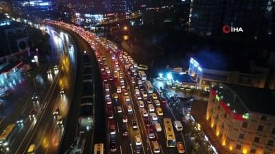 trafik sorunu -  Beylikdüzü Ambarlı liman yolunda trafik sorunu