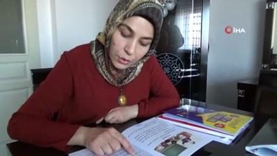 halk egitim -  İşitme engelli anne, çocukları için okuma yazma öğreniyor