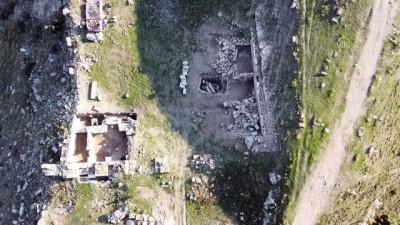 UŞAK - Blaundos Antik Kenti'nde Roma dönemine ait hamam bulundu