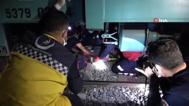 saglik calisani -  Adana'da yük treninin çarpmasıyla kolu kopan kişi ağır yaralandı