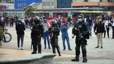 BOGOTA - Kolombiya'da hükümet karşıtı gösteri