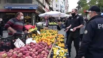harekete gec -  Korona virüs temaslı pazarcı kardeşler satış yaparken yakalandı