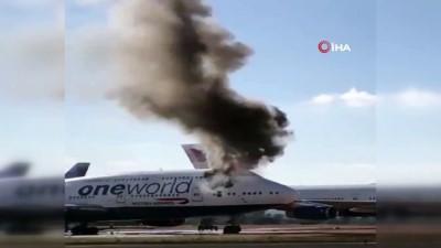 - İspanya'da yolcu uçağı alev aldı