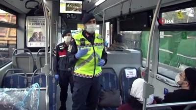 Jandarmanın 'HES' kodu denetiminde temaslı kişi otobüste tespit edildi