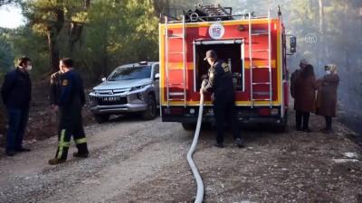 orman yangini - MUĞLA - Menteşe'deki orman yangını söndürüldü
