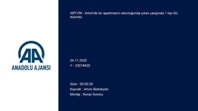 ARTVİN - Odunlukta çıkan yangında bir kişi ölü bulundu