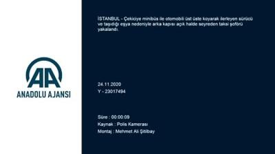 İSTANBUL - Trafiği tehlikeye düşüren sürücüler yakalandı