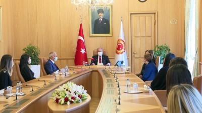 TBMM Başkanı Şentop, Meclis Kreşi öğretmenlerini kabul etti