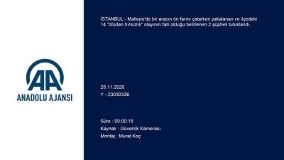 kamera - İSTANBUL - Otomobilin farlarını çalarken yakalanan 2 şüpheli tutuklandı