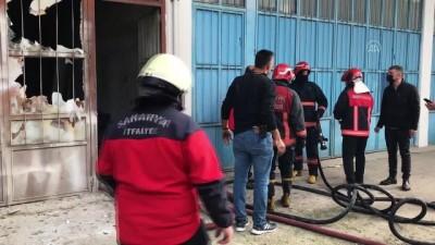 trol - SAKARYA - Mobilya boyahanesinde çıkan yangın hasara neden oldu