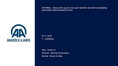 kamera - İSTANBUL - Esenyurt'ta park halindeki otomobili kundakladığı iddia edilen şüpheli yakalandı
