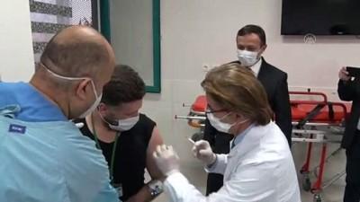 allah - KAYSERİ - Yerli ve milli Kovid-19 aşı adayının ikinci dozu gönüllüye uygulandı