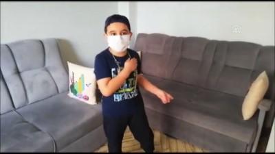 ogrenciler - KONYA - Çocuklar sağlık çalışanları için klip çekti