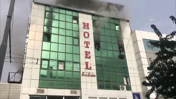ilk mudahale - ŞANLIURFA - Otel yangını