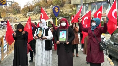 saldiri - ŞIRNAK - Terör mağduru aileler HDP İl Başkanlığı binası önünde eylem yaptı