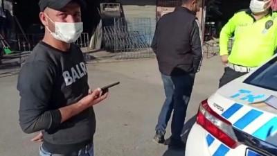 akalan - ADANA - Minibüsle 'korsan taşımacılık' yapan sürücü polis denetiminde yakalandı