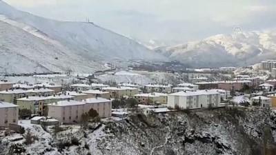 akalan - BİTLİS - Kar yağışıyla kent beyaza büründü