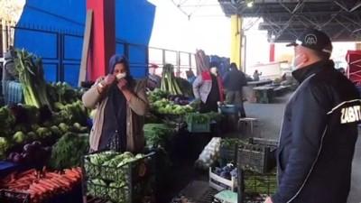 halk pazari - EDİRNE - Pazarcılar kurallara uymayan arkadaşlarını uyardı