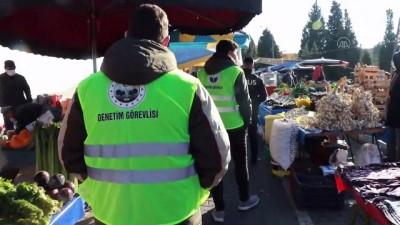 halk pazari - KIRKLARELİ - Halk pazarında Kovid-19 denetimleri artırıldı