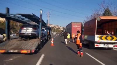 hastane - KOCAELİ - Anadolu Otoyolu'ndaki kaza ulaşımı aksattı