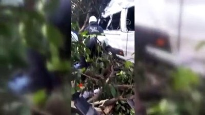 HATAY - Tarım işçilerini taşıyan minibüs devrildi: 9 yaralı